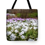 Meadow With Flowers At Botanic Garden In The Blue Mountains Tote Bag