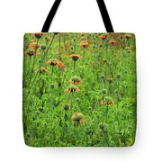 Meadow With Orange Wildflowers Tote Bag