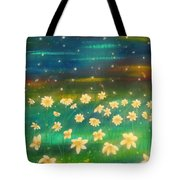 Meadows And Fireflies Tote Bag