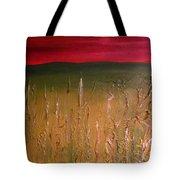 Meadows Autumn Sunset  Tote Bag