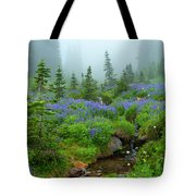 Meadows In The Mist Tote Bag