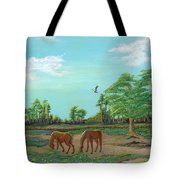 Meandering Mares Tote Bag