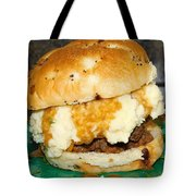Meatloaf And Mashed Potato Sandwich Tote Bag