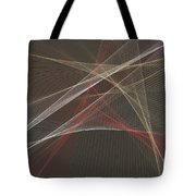 Mechanic Computer Graphic Line Pattern Tote Bag