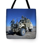 Medical Personnel Pose For A Group Tote Bag