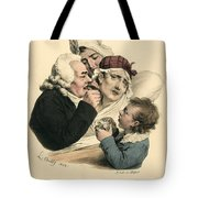 Medical Practitioner Administers Tote Bag
