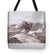 Medicine Bow Peak Historical Vignette Tote Bag