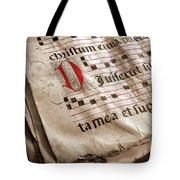 Medieval Choir Book Tote Bag