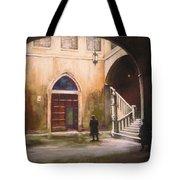 Medieval Courtyard Tote Bag