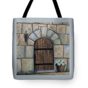 Medieval Door Tote Bag