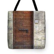 Medieval Florence Door Tote Bag