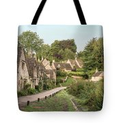 Medieval Houses In Arlington Row In Cotswolds Countryside Landsc Tote Bag