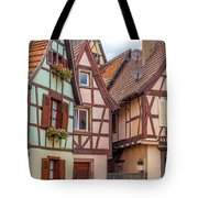 Medieval Houses In Ribeauville  Tote Bag