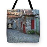 Medieval Lane In Tallinn Tote Bag