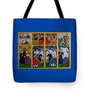 Medieval Scene Tote Bag