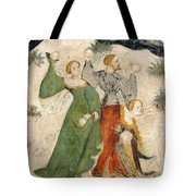 Medieval Snowball Fight Tote Bag
