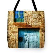 Medieval Spanish Gate And Balcony - Vintage Version Tote Bag
