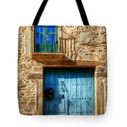 Medieval Spanish Gate And Balcony Tote Bag
