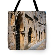 Medievil Town In Rhodes Tote Bag by Sandra Bronstein