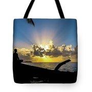 Meditating At Sunrise Tote Bag