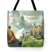 Meditating With Nature Tote Bag
