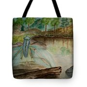 Meditation Tote Bag by Carrie Viscome Skinner