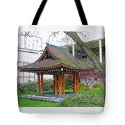 Meditation Pagoda Tote Bag