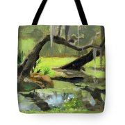 Meditative Swamp Tote Bag