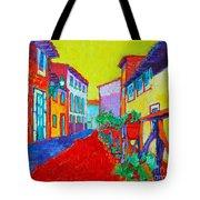 Mediterranean Cityscape Tote Bag