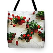 Mediterranean Flower Tote Bag