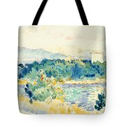 Mediterranean Landscape With A White House Tote Bag