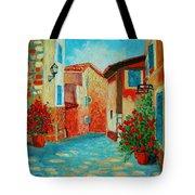 Mediterranean Street Tote Bag