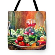 Mediterranean Table Tote Bag