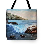 Mediterranean Wave Tote Bag