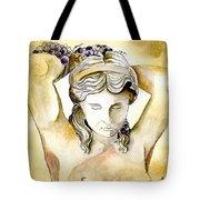 Meditrina Goddess Of Wine Tote Bag