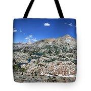 Medley Lake Basin Panorama From High Above - Sierra Tote Bag