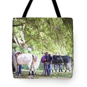 Meet Me Under The Trees Tote Bag