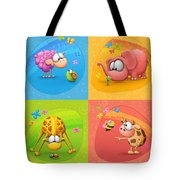 Meet The Little Ones Tote Bag