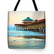 Meet You At The Pier - Folly Beach Pier Tote Bag