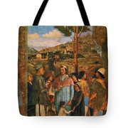 Meeting Of Duke Ludovico II Gonzaga With Cardinal Francesco Gonz Fragment Tote Bag