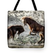 Meeting On The River  Tote Bag