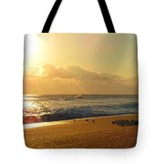 Meeting With The Sun Tote Bag