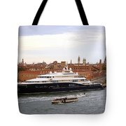 Mega Luxury Yacht The Carinthia Vll In Venice, Italy Tote Bag