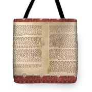 Meguilat Esther-esther Scroll The Whole Text Tote Bag