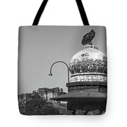 Mehrangarh Fort - Approach With Caution Bw Tote Bag