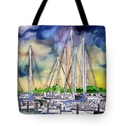 Melbourne Florida Marina Tote Bag