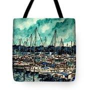 Melbourne Florida Sailing Marina Tote Bag
