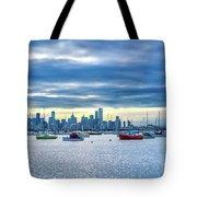 Melbourne Skyline Tote Bag