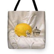 Melon On White Silk Tote Bag
