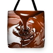 Melted Chocolate And Spoon Tote Bag